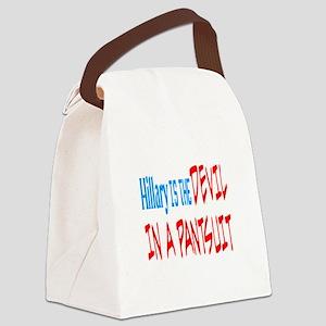 DEVIL IN A PANTSUIT Canvas Lunch Bag