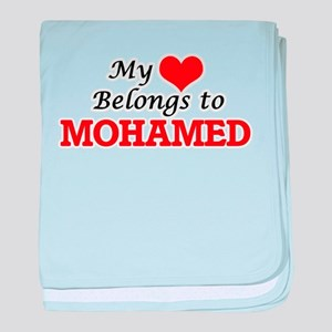 My heart belongs to Mohamed baby blanket