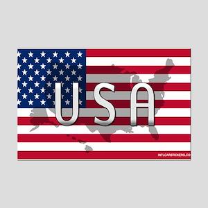 USA Flag Extra Mini Poster Print