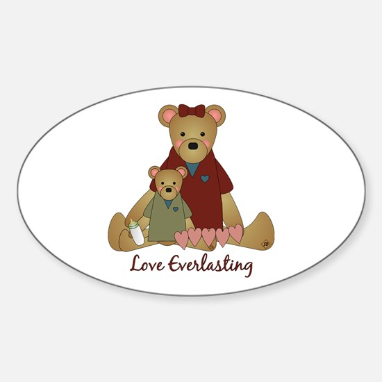 Love Everlasting Mother & Child Oval Decal