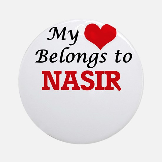 My heart belongs to Nasir Round Ornament