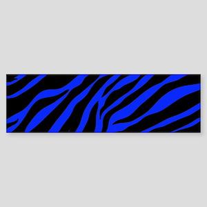blue zebra Bumper Sticker