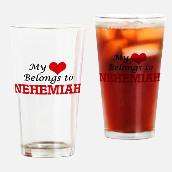My heart belongs to Nehemiah Drinking Glass