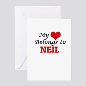 My heart belongs to Neil Greeting Cards
