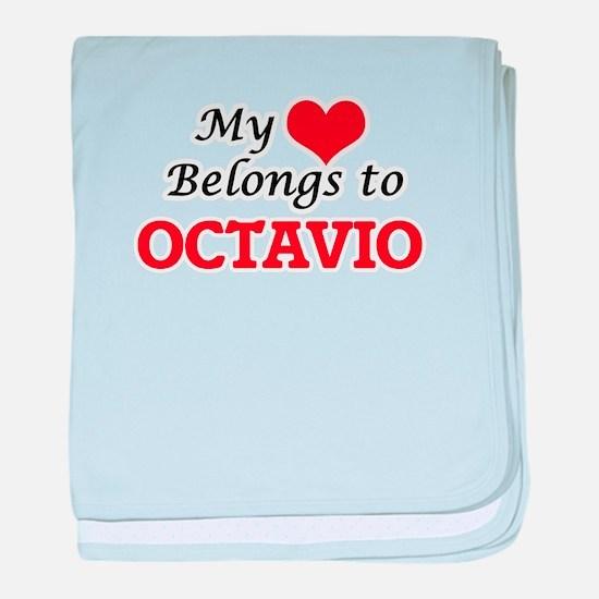 My heart belongs to Octavio baby blanket