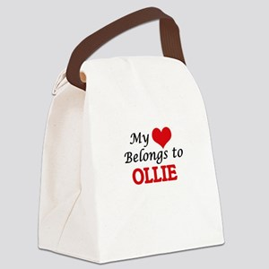 My heart belongs to Ollie Canvas Lunch Bag