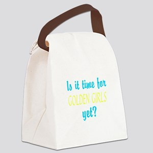 Time For The Golden Girls Canvas Lunch Bag
