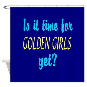 Rose Golden Girls Shower Curtains