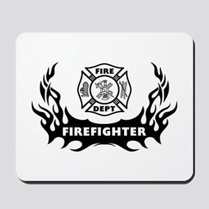 Fire Dept Firefighter Tattoos Mousepad