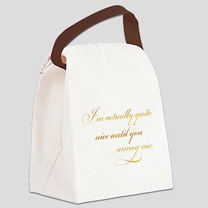 Gold Faux Foil Metallic Glitter Q Canvas Lunch Bag