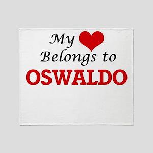 My heart belongs to Oswaldo Throw Blanket
