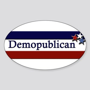 Demopublican Oval Sticker