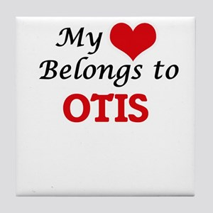 My heart belongs to Otis Tile Coaster