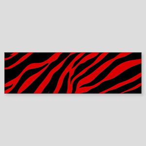 red zebra Bumper Sticker