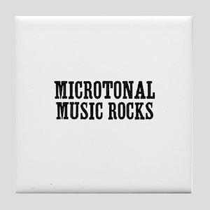 Microtonal Music Rocks Tile Coaster