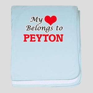My heart belongs to Peyton baby blanket