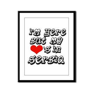 Heart in Serbia Framed Panel Print