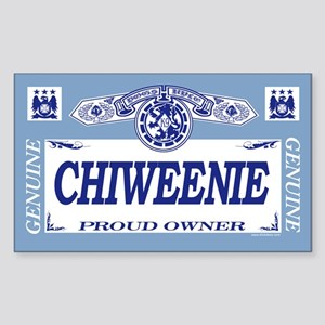 CHIWEENIE Rectangle Sticker