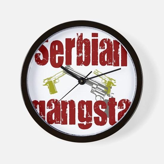Serbian Gangster Wall Clock