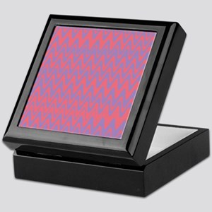 Pink and purple wavy lines pattern Keepsake Box