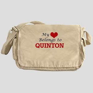 My heart belongs to Quinton Messenger Bag