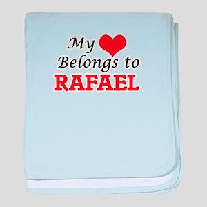 My heart belongs to Rafael baby blanket