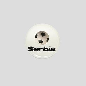 Serbia Soccer ball Mini Button