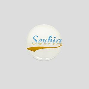 Beach Colored Serbia Mini Button