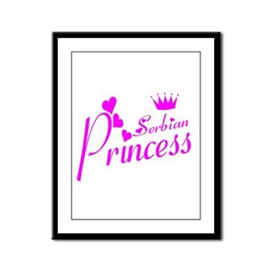 Serbian Princess Framed Panel Print