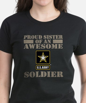 Proud U.S. Army Sister Women's Dark T-Shirt