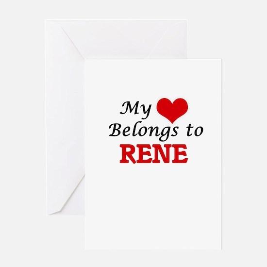 My heart belongs to Rene Greeting Cards