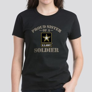 Proud U.S. Army Sister Women's Dark T-Shirt