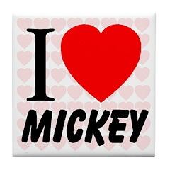 I Love Mickey Tile Coaster