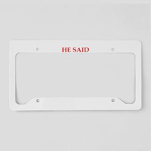 Donald Trump joke License Plate Holder