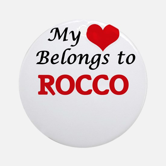 My heart belongs to Rocco Round Ornament