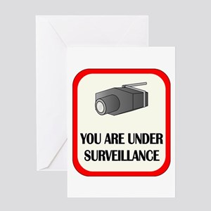 You Are Under Surveillance Greeting Card