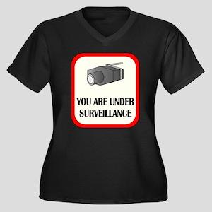 You Are Under Surveillance Women's Plus Size V-Nec