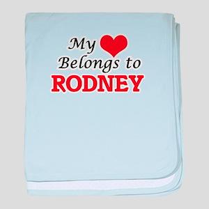 My heart belongs to Rodney baby blanket