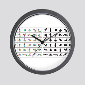 Colorful Origami Wall Clock