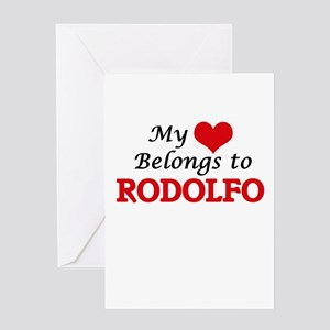 My heart belongs to Rodolfo Greeting Cards