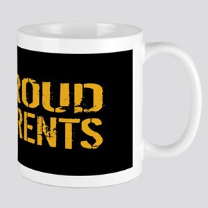 U.S. Navy: Proud Parents (Black & Gold) Mug
