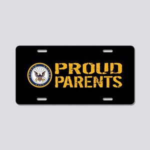 U.S. Navy: Proud Parents (B Aluminum License Plate