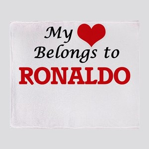 My heart belongs to Ronaldo Throw Blanket