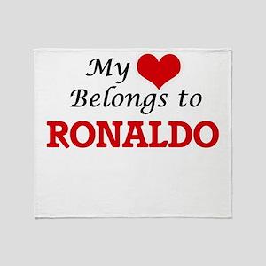 My heart belongs to Ronaldo Throw Blanket
