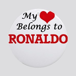 My heart belongs to Ronaldo Round Ornament
