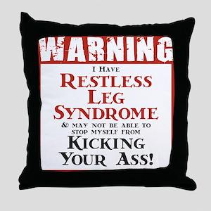 Restless Leg Syndrome Throw Pillow