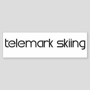 Telemark Skiing (modern) Bumper Sticker