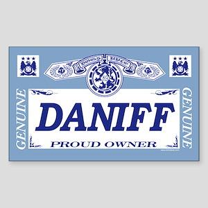 DANIFF Rectangle Sticker