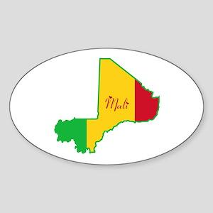 Cool Mali Oval Sticker