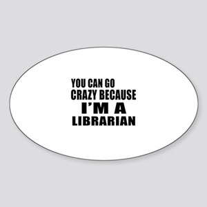 I Am Librarian Sticker (Oval)
